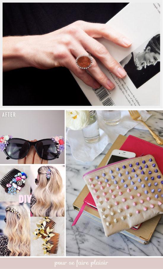 DIY Plumetis bazaar / bijoux de tête et accessoires