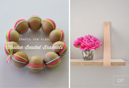 DIY bracelets bois étagère