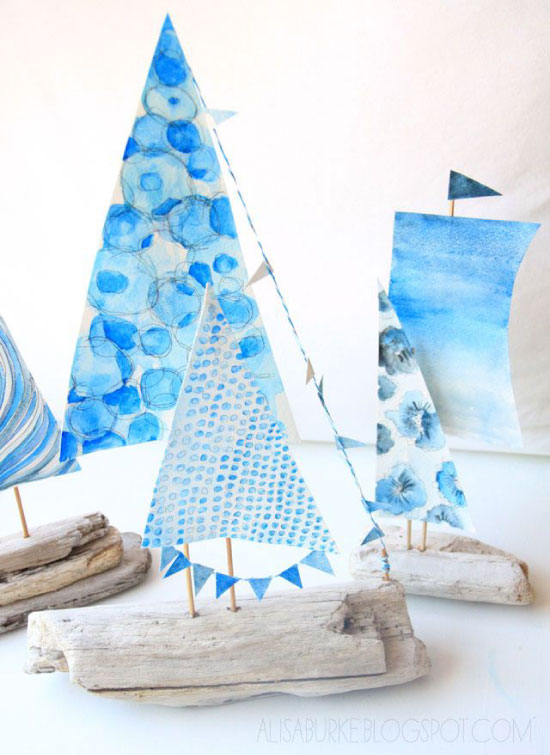 driftwood boats Alisa Burke