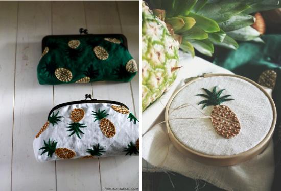 Broderies ananas via Yumiko Higuchi
