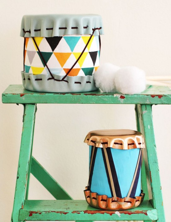 DIY drums, abeautifulmess