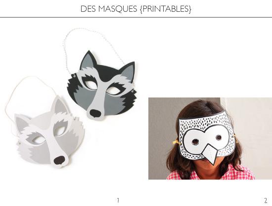 des masques à imprimer
