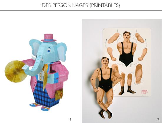 Des personnages à imprimer