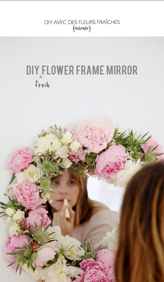 DIY avec des fleurs fraîches - with fresh flowers
