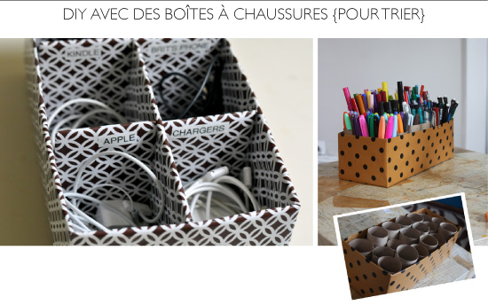 15 diy avec des bo tes chaussures. Black Bedroom Furniture Sets. Home Design Ideas