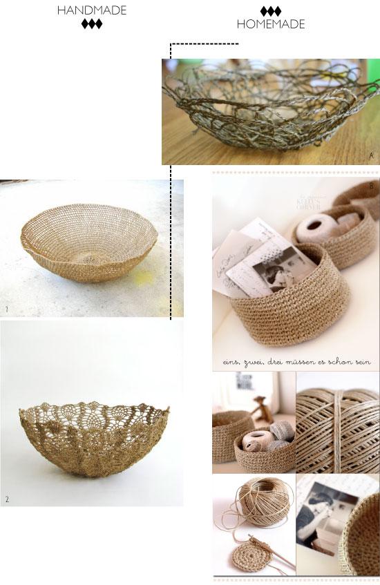 DIY : des paniers crochetés en coton non blanchi