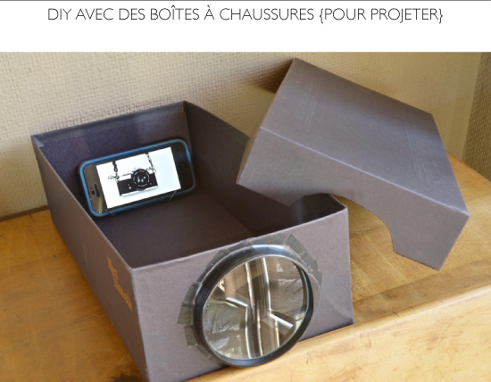 DIY Smartphone Photo Projector using Shoebox