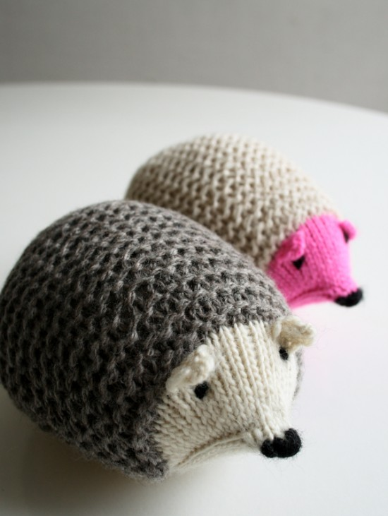 Knit Hedgehog via Purl Bee