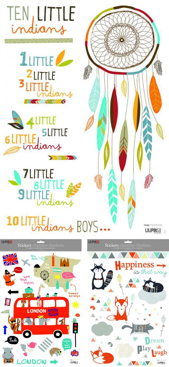 Lilipinso planche stickers Paper&cloth /  Laetitia Ho / Sophie Cordier