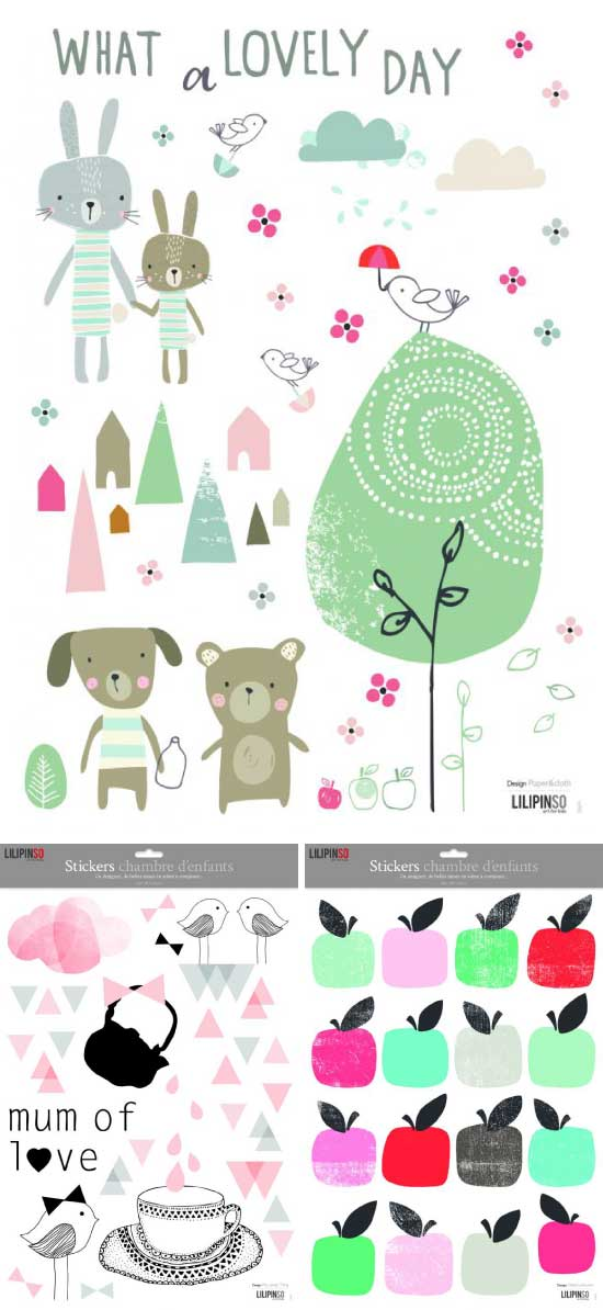 Lilipinso planche stickers Paper&cloth / Mylovelything / Chloé Lefeuvre