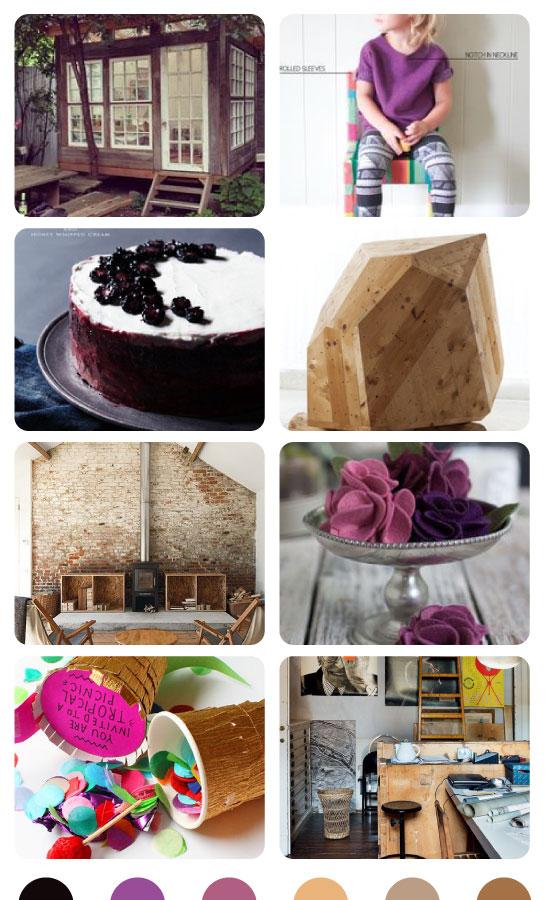 Wood + Purple