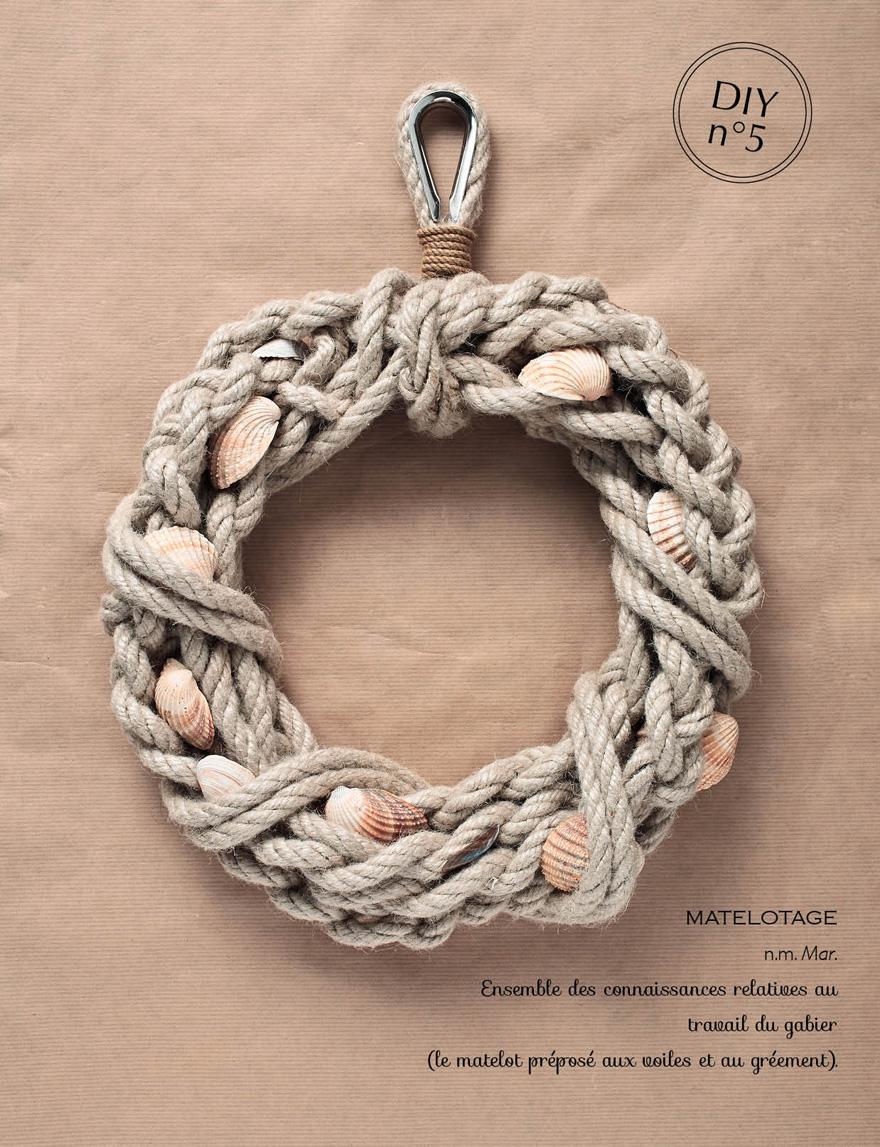 La couronne en matelotage // Plumetis magazine // Aurélie Soligny