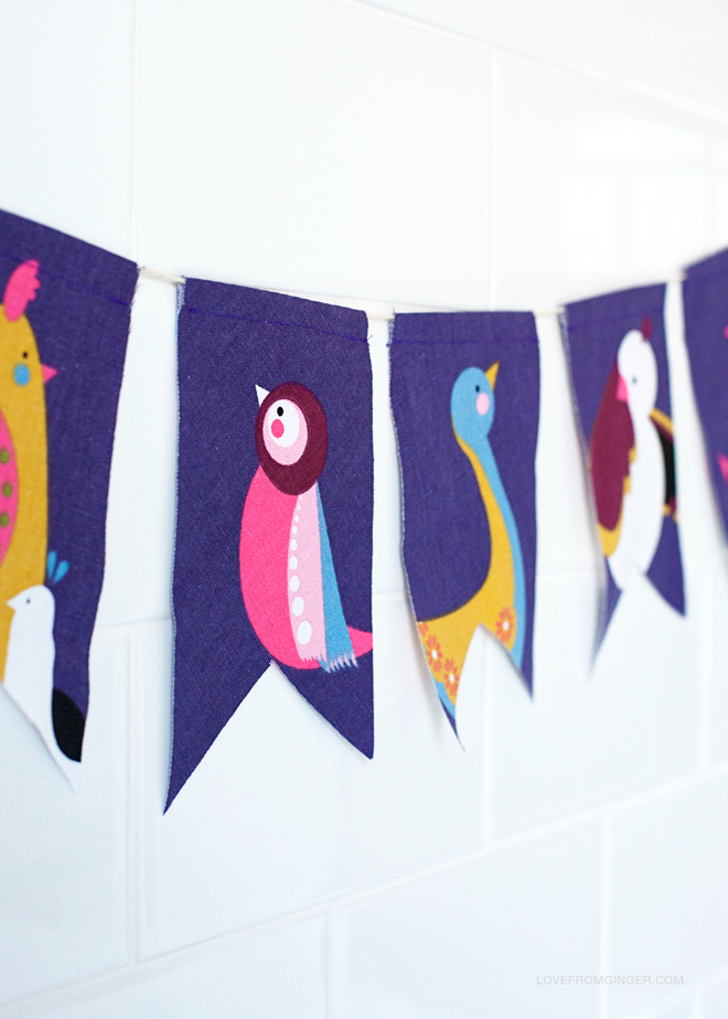 scrap bunting - love from ginger