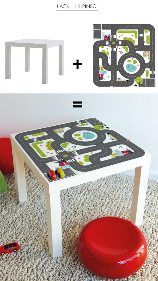table Lack customisé sticker Lilipinso