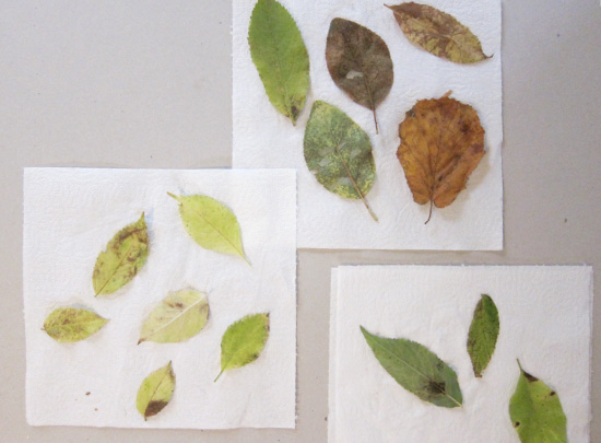 DIY Fabric + Leaf