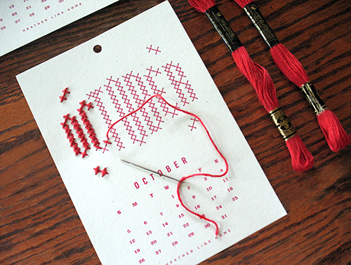 2014 Year in Stitches Calendar Kit