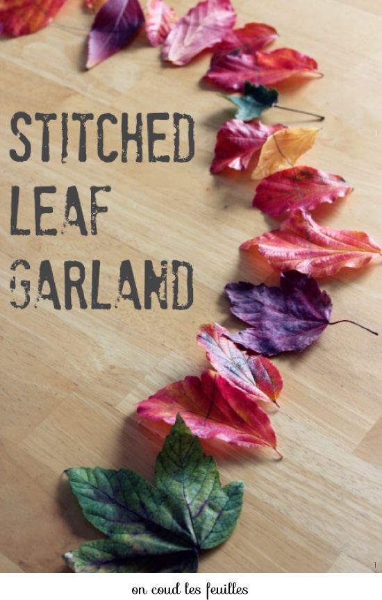 Avec des feuilles mortes / Crafts with leaves