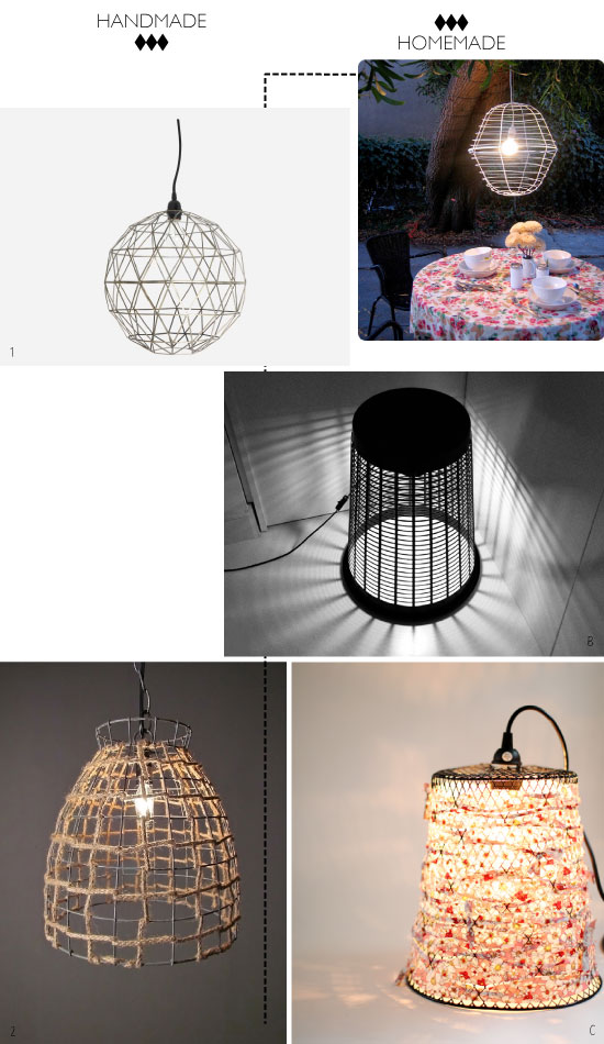 DIY Basket Chandelier