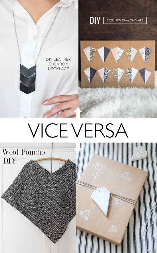 DIY diamond & chevron