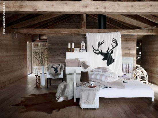 ambiance d co dans sa maison un grand cerf. Black Bedroom Furniture Sets. Home Design Ideas