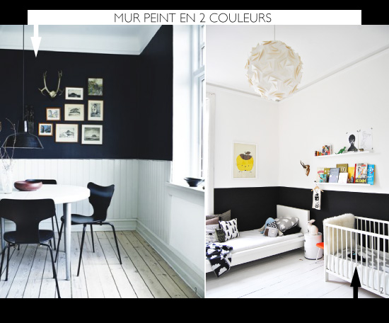 diy painted half wall - Peindre 2 Murs De Couleur Differentes