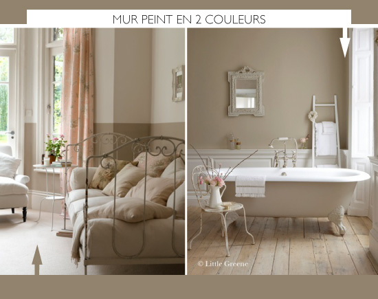 diy painted half wall little greene - Peindre 2 Murs De Couleur Differentes