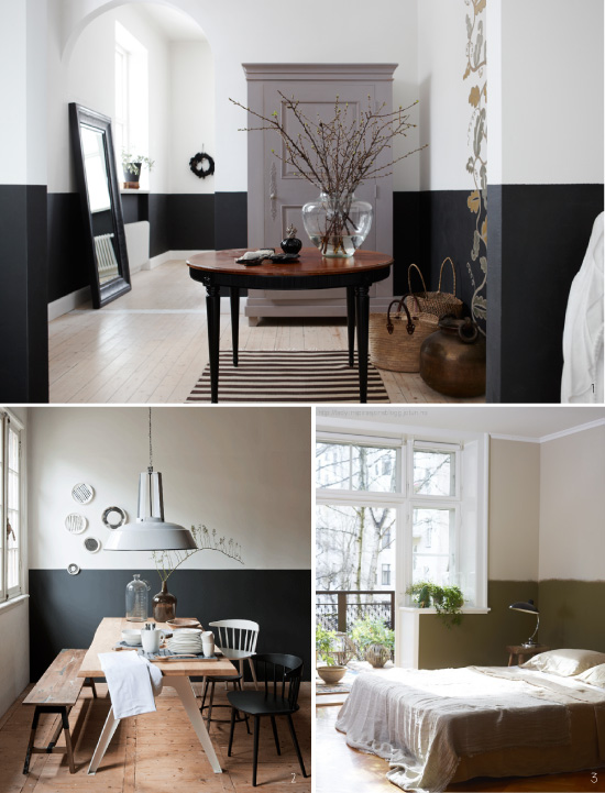 peindre le mur en 2 couleurs. Black Bedroom Furniture Sets. Home Design Ideas