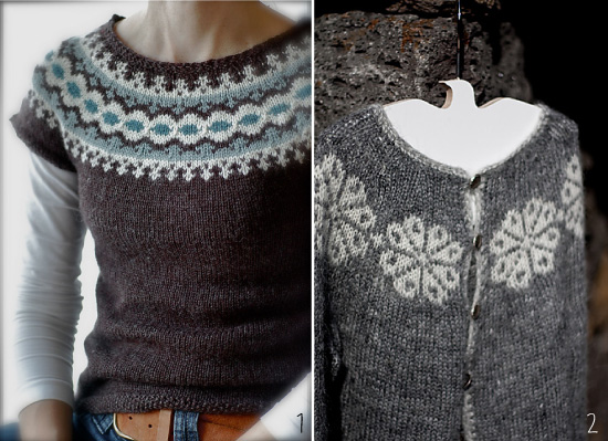 modele tricot gratuit pull islandais