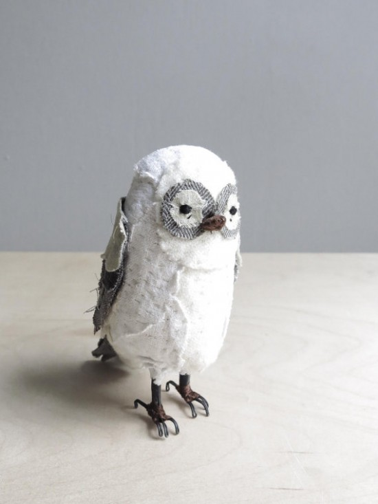 white owl / soft sculpture bird / Oh albatross