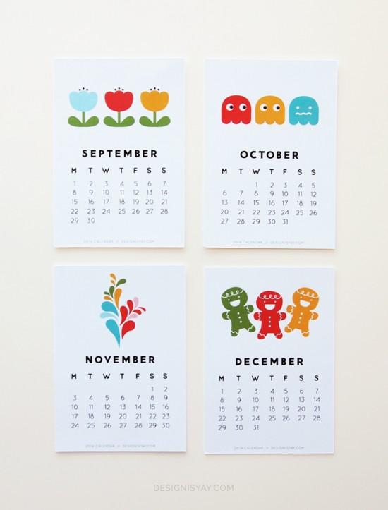 2014 Calendar // Design is yay