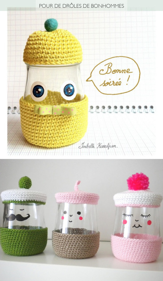 DIY Recycled Yogurt Jar