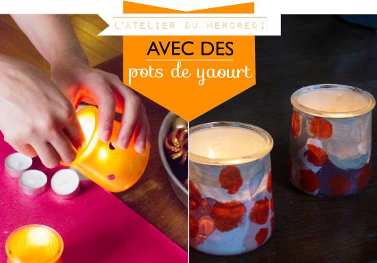 Decoration De Table Avec Des Pots De Yaourt En Verre