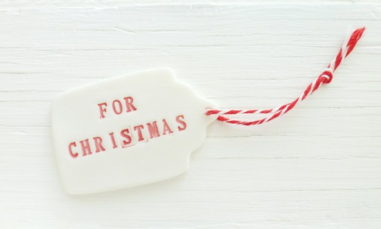 Porcelain gift tag // delphineandmax