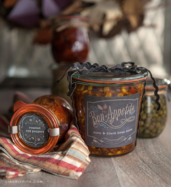 Printable Labels for your food gifts by Lia Griffith