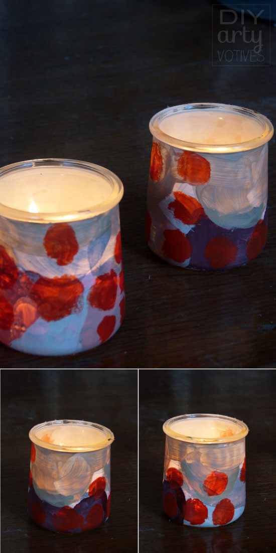 DIY painted votive holder