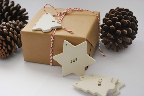 DIY CHRISTMAS CLAY GIFT TAGS AND ORNAMENTS