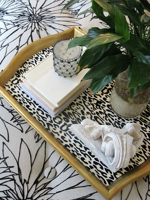diy leopard tray