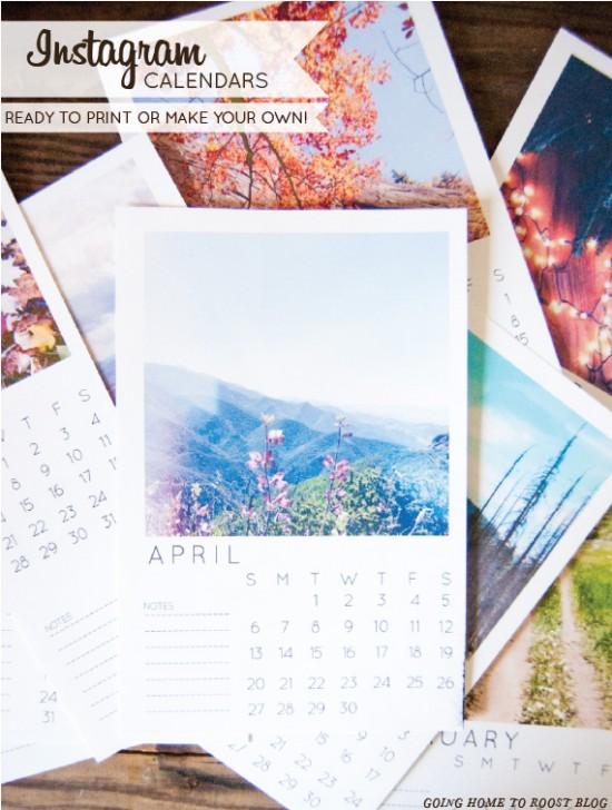customizable instagram calendar // goinghometoroost