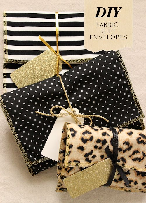 leopard fabric gift envelope