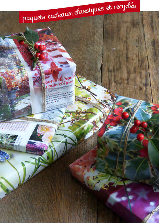 Recycled magazine as gift wrap