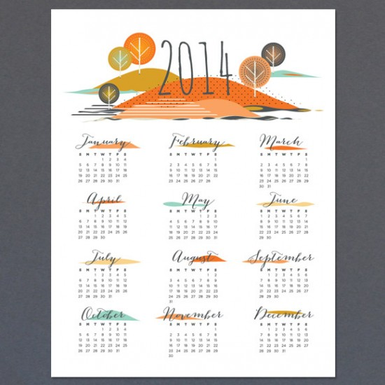 seasons calendar // lovevsdesign