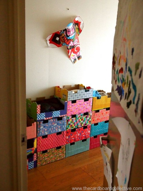 stackable cardboard dressers for kids