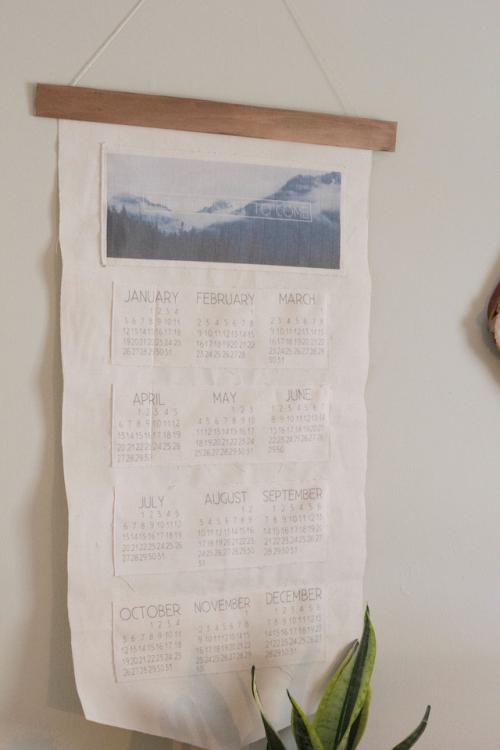 Always Rooney / fabric calendar