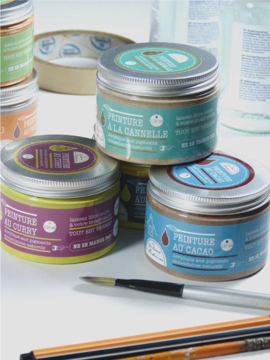 Les couleurs d'Hadoinie : peintures aux pigments alimentaires