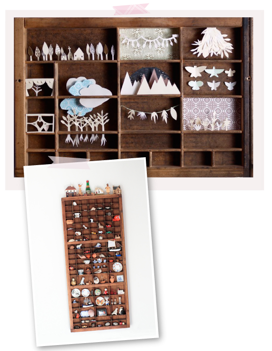 WIth Printer Drawers // DIY avec des casiers d'imprimeurs
