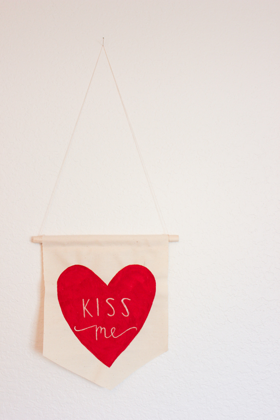 fabric hanging valentine // a fabulous fete