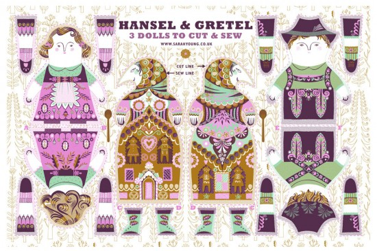hansel-and-gretel-sarah-young-tea-towel