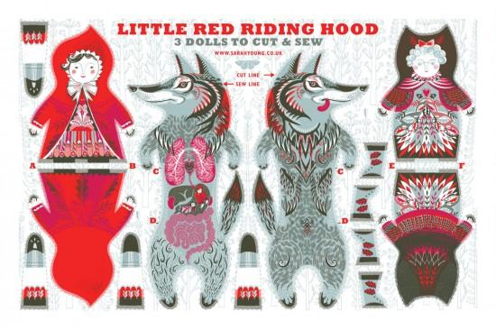 red-riding-hood-sarah-young-tea-towel