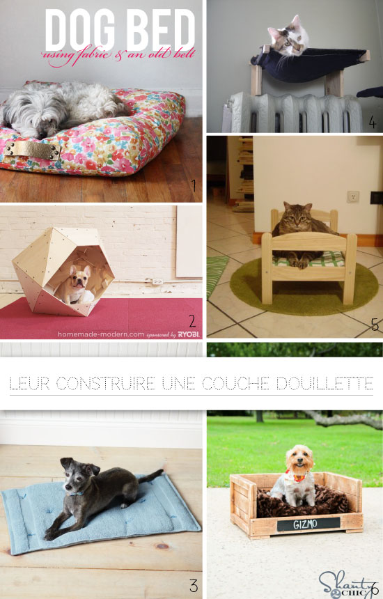 20 diy pour chats et chiens. Black Bedroom Furniture Sets. Home Design Ideas