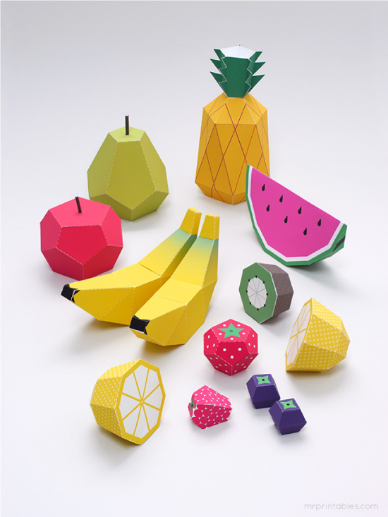 Play Fruit Paper Toy // PRINTABLES